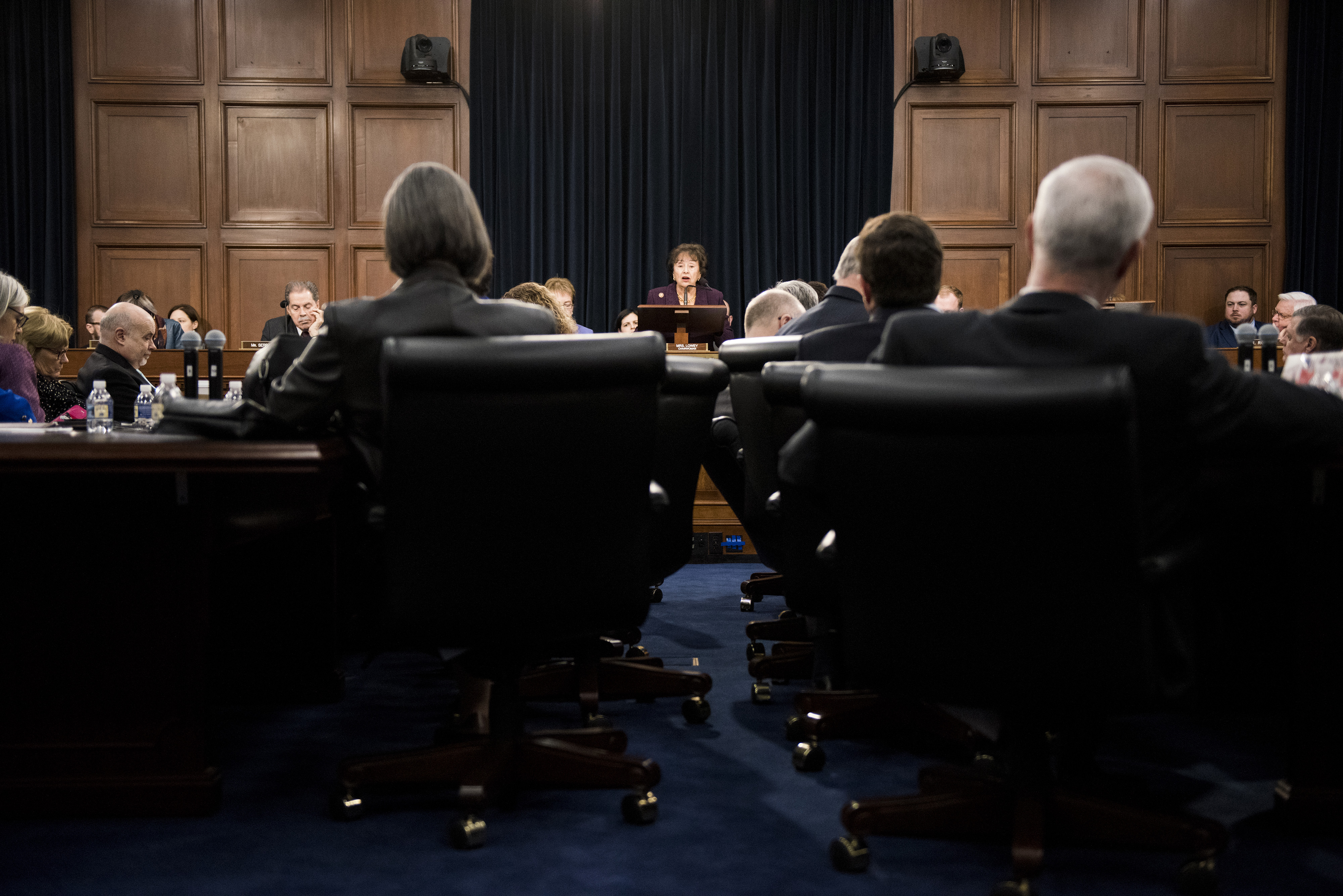 UNITED STATES - JANUARY 30: Chairwoman Nita Lowey, D-N.Y., conducts the House Appropriations Committee meeting to organize for the 116th Congress on Wednesday, Jan. 30, 2019. (Photo By Bill Clark/CQ Roll Call)
