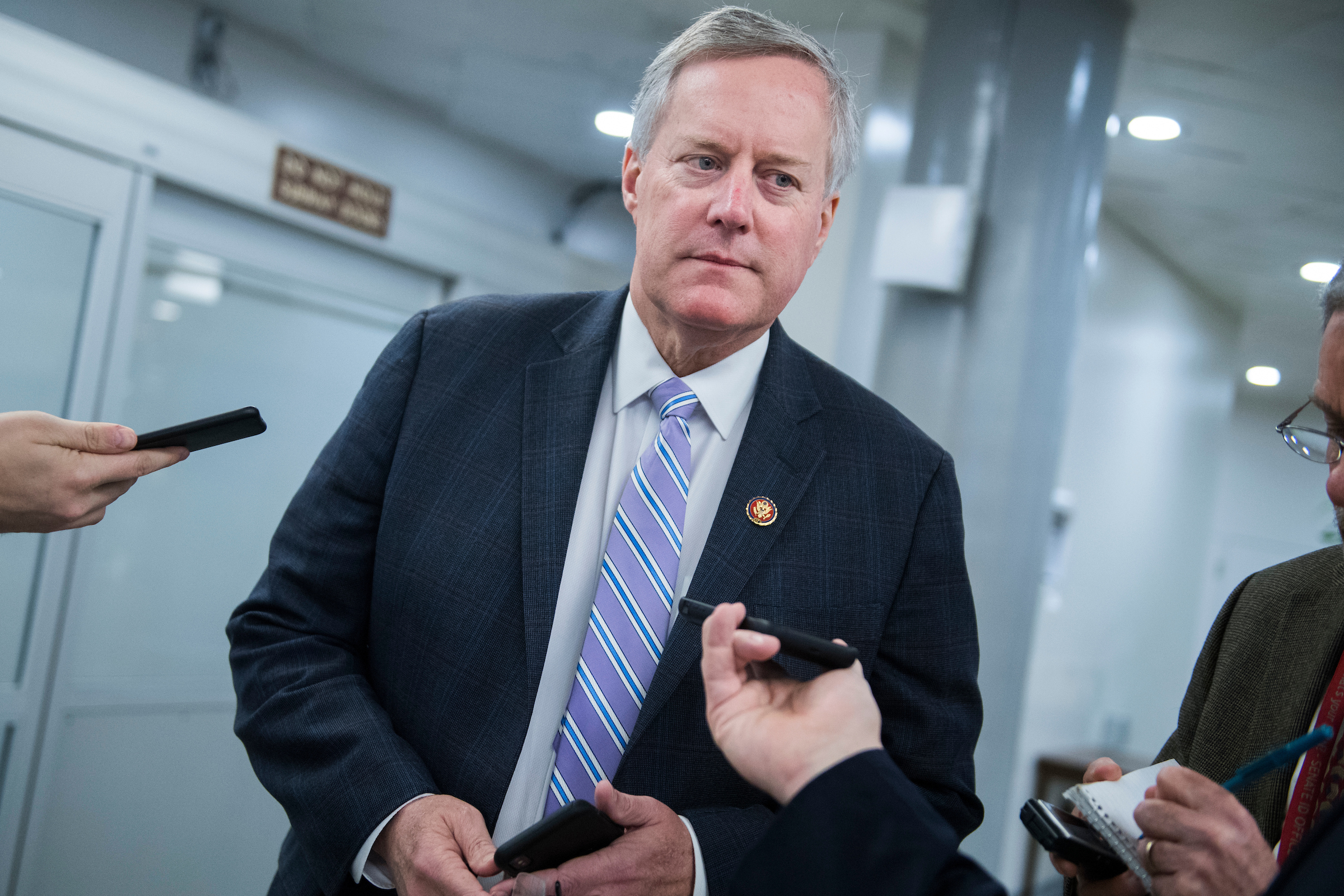 UNITED STATES - JANUARY 28: Rep. Mark Meadows, R-N.C., talks with reporters in the Capitol on Monday, January 28, 2019. (Photo By Tom Williams/CQ Roll Call)