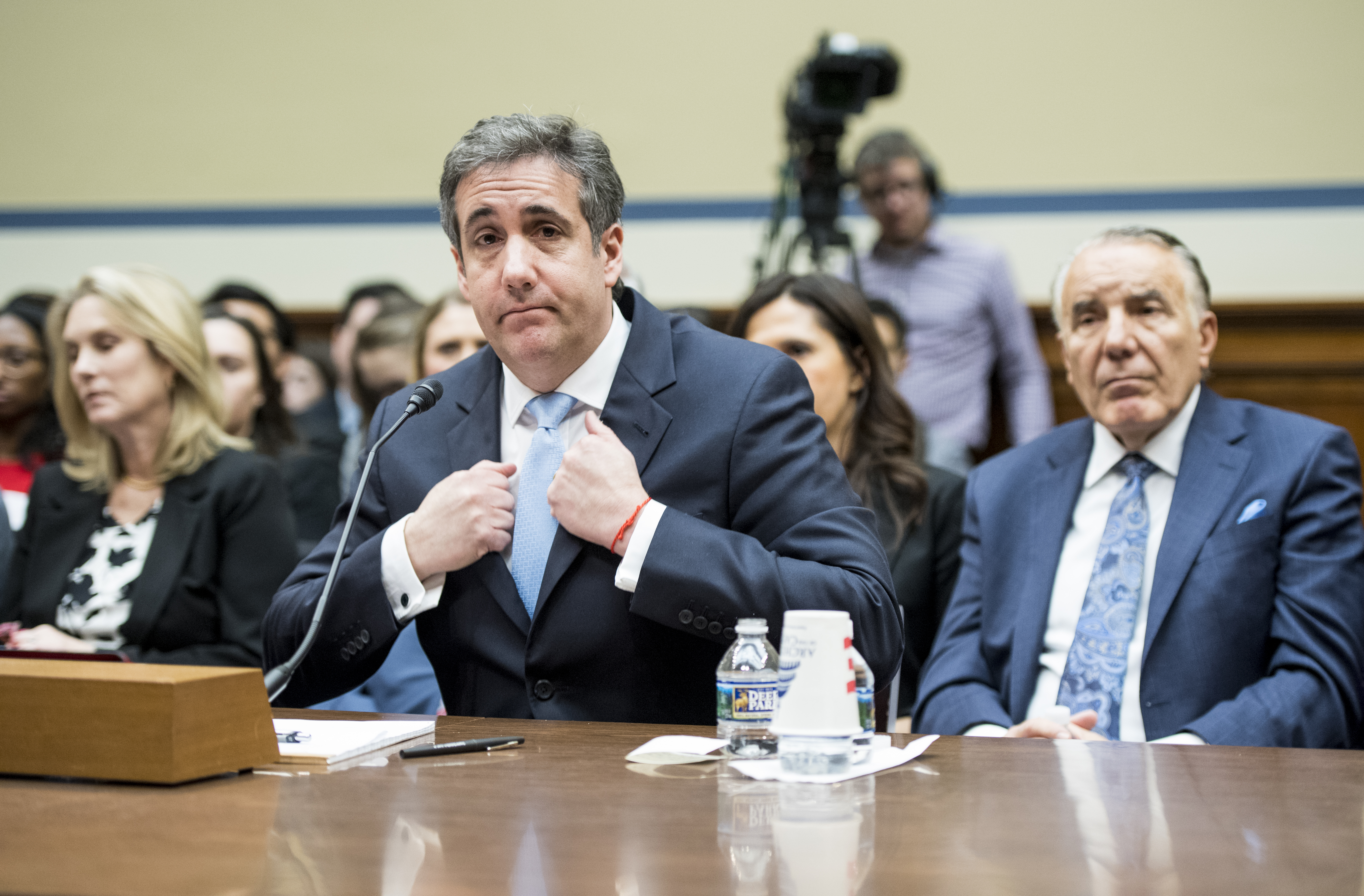 UNITED STATES - FEBRUARY 27: Michael Cohen, former attorney for President Donald Trump, testifyies during the House Oversight and Reform Committee hearing on Russian interference in the 2016 election on Wednesday, Feb. 27, 2019. (Photo By Bill Clark/CQ Roll Call)