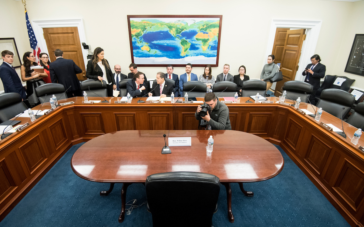 Secretary of Commerce Wilbur Ross did not appear before the House Appropriations Commerce-Justice-Science Subcommittee. (Photo By Bill Clark/CQ Roll Call)