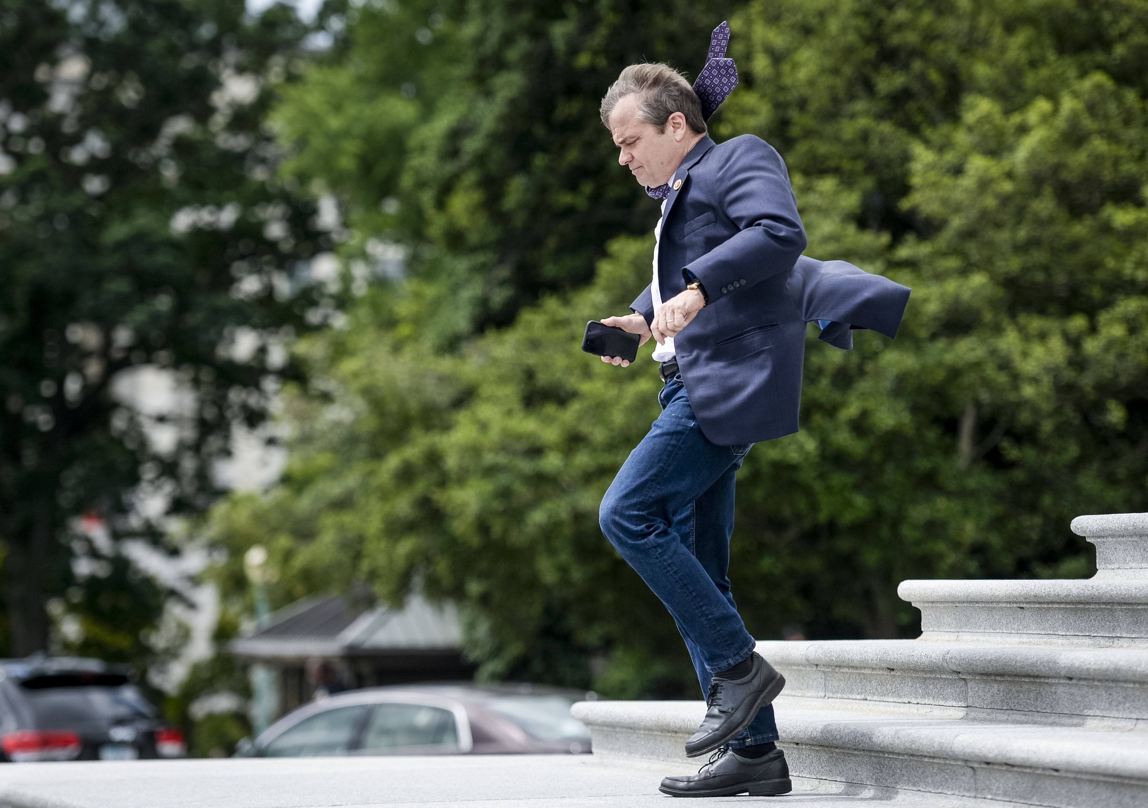 UNITED STATES - JUNE 21: Rep. Mike Quigley, D-Ill., talks to reporters as he leaves the Capitol after the last votes of the week in the House in Washington on Friday June 21, 2019. (Photo by Caroline Brehman/CQ Roll Call) Quigley