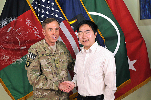 Kim was a strategic adviser to Gen. David Petraeus when he was commander of the Internationl Security Assistance Force in Afghanistan. (Courtesy Rep. Andy Kim)