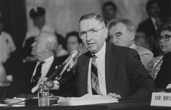 Ross Perot at a press conference in August 1992. (Photo by Maureen Keating/CQ Roll Call via Getty Images)