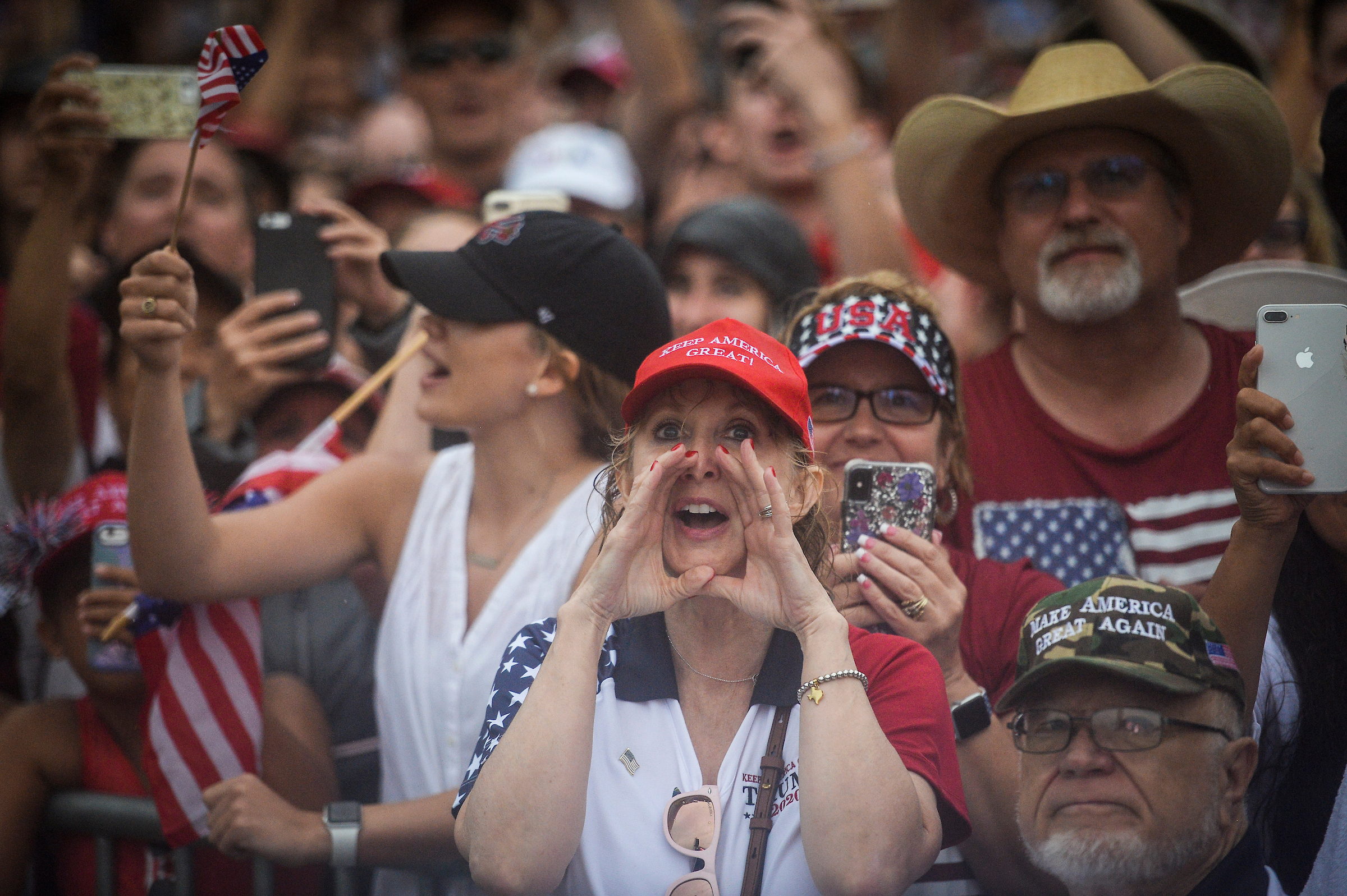 People watch President Donald Trump's 'Salute to America' Independence Day celebration in front of the Lincoln Memorial. (Caroline Brehman/CQ Roll Call)