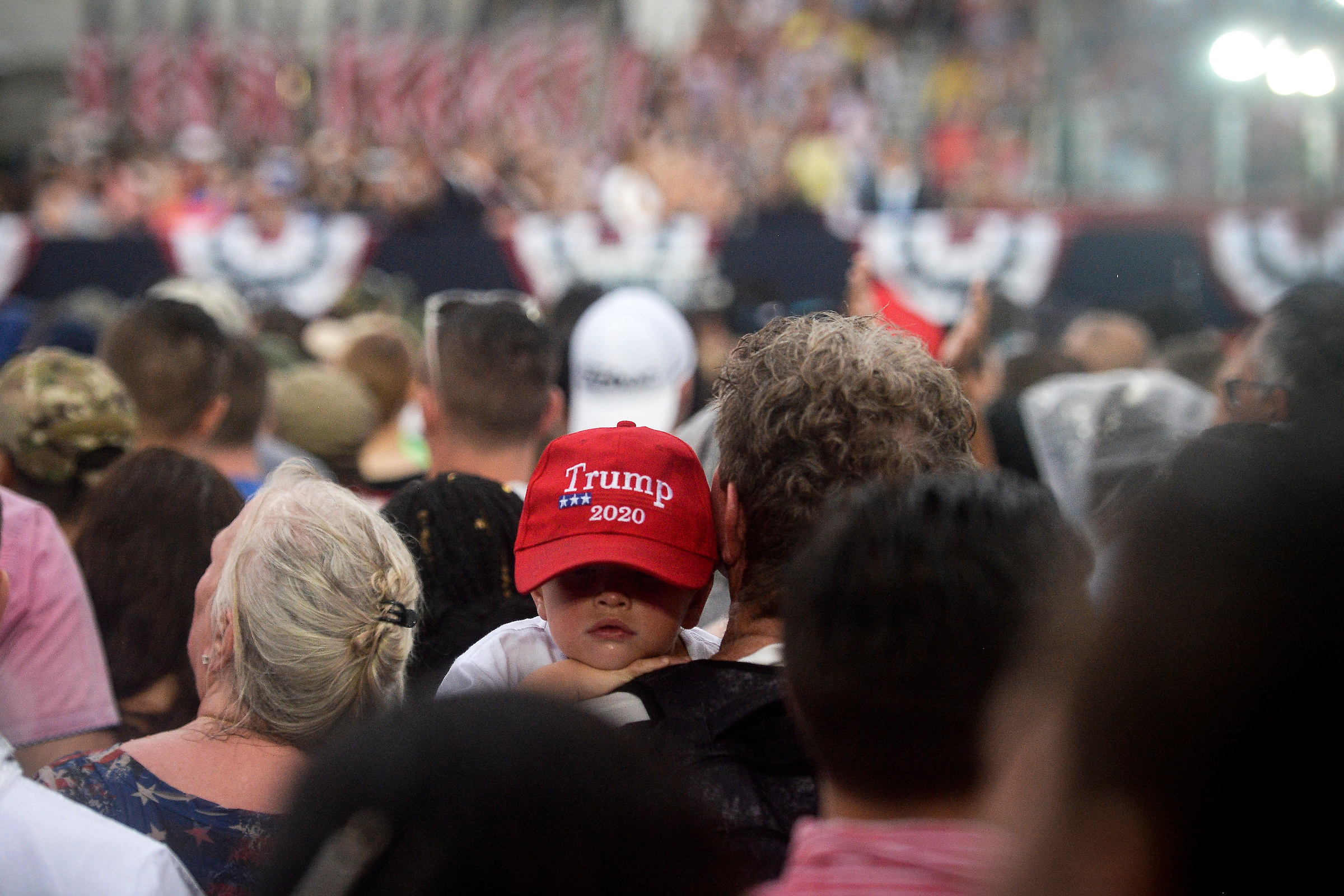 UNITED STATES - JULY 4: People watch President Donald Trump's 'Salute to America' as an Independence Day celebration in front of the Lincoln Memorial on Thursday July 4, 2019. (Photo by Caroline Brehman/CQ Roll Call)