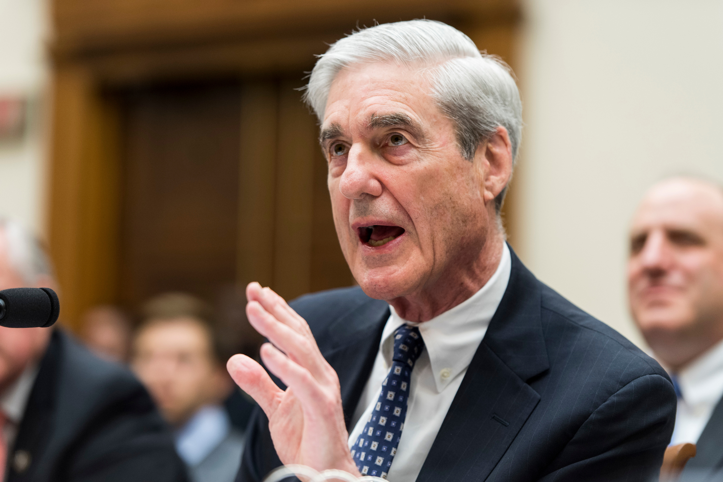 "Former Special Counsel Robert Mueller testifyies during the House Judiciary Committee hearing on ""Oversight of the Report on the Investigation into Russian Interference in the 2016 Presidential Election"" on Wednesday, July 24, 2019. (Photo By Bill Clark/CQ Roll Call)"