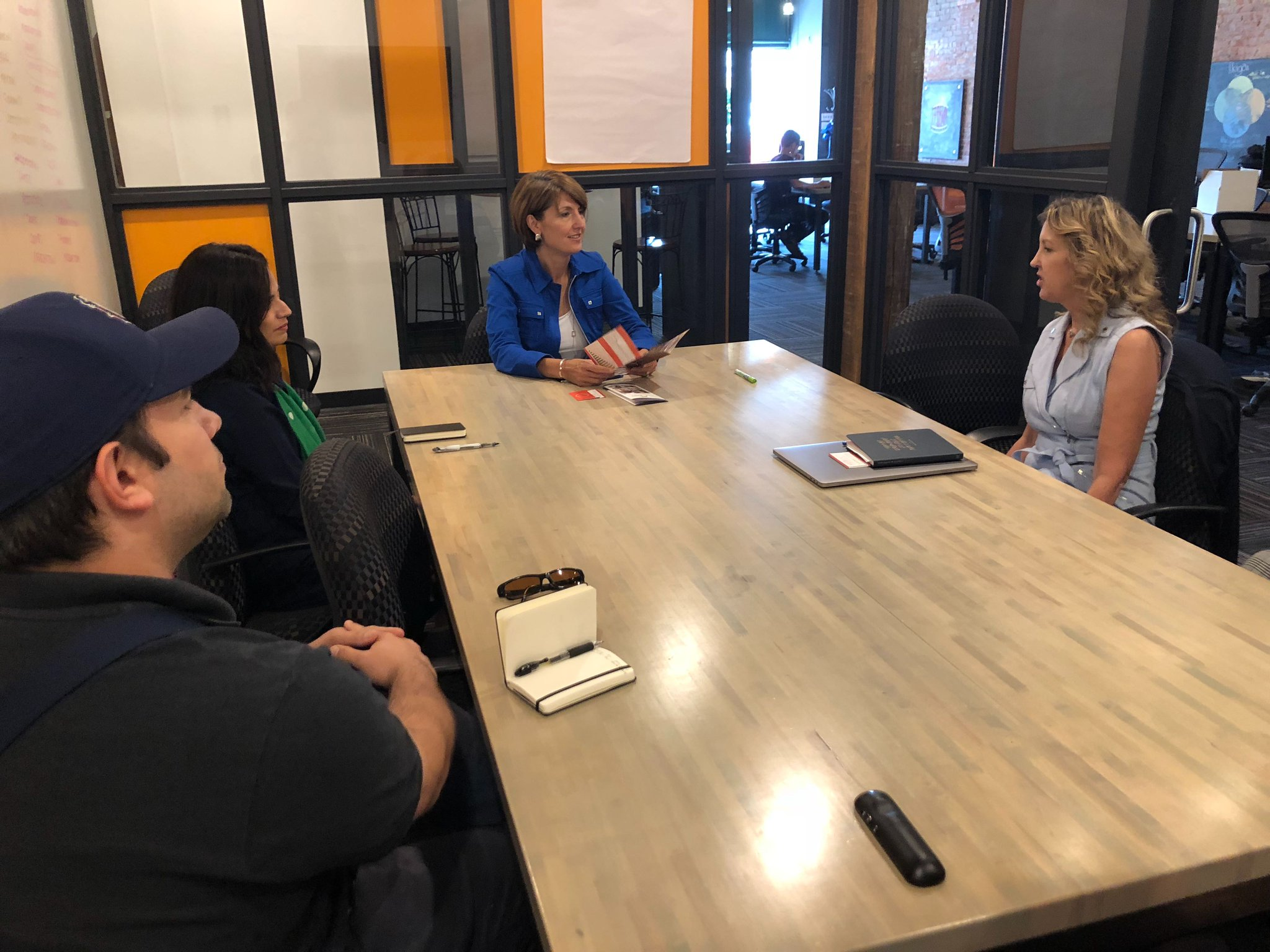 Rep. Cathy McMorris Rodgers meets with StartUp Spokane — a member of her tech and innovation coalition in Washington's 5th District — during the August recess. (Courtesy Office of Rep. Cathy McMorris Rodgers)