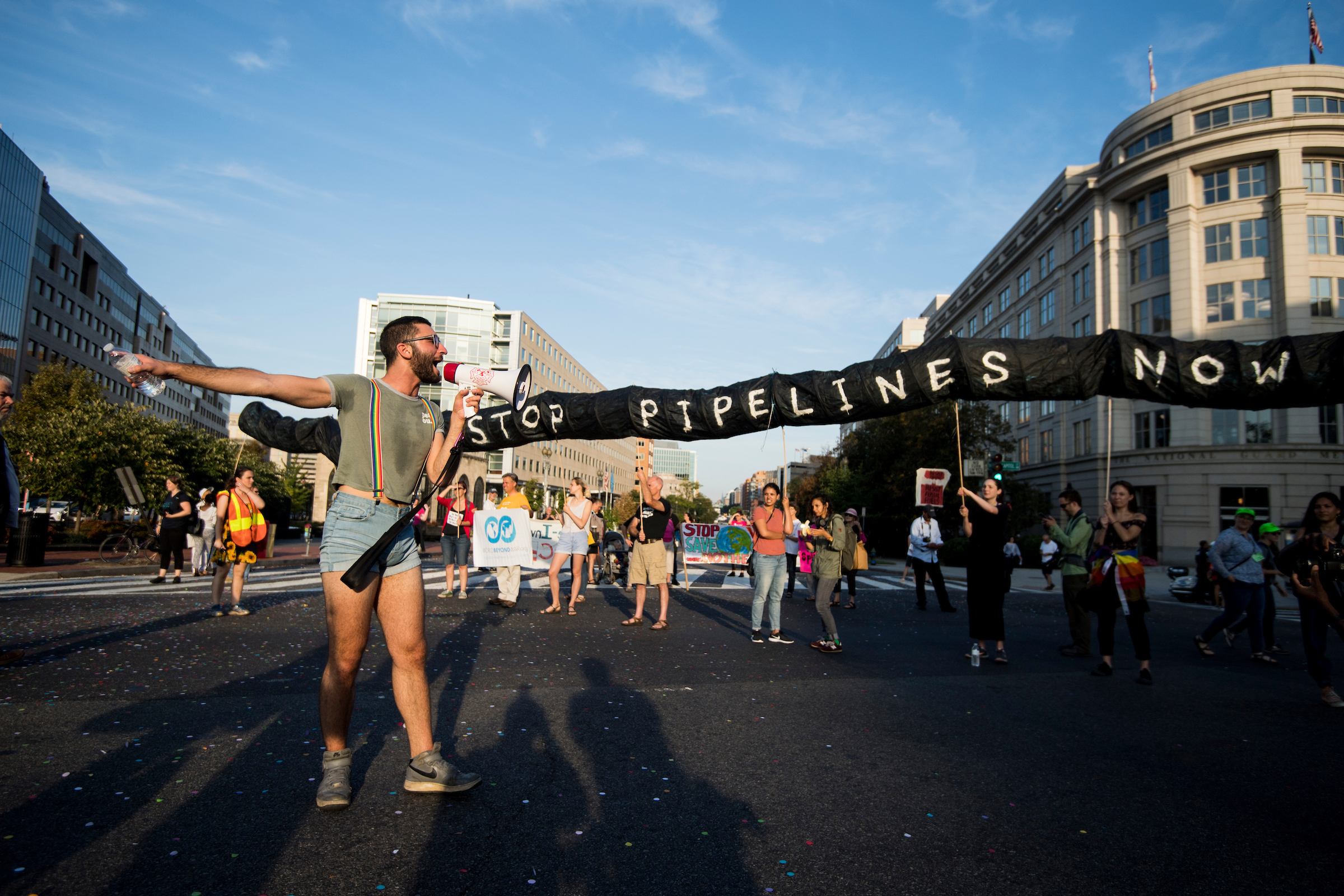 Climate change activists block Washington's streets
