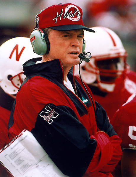 osborne092801 -- Tom Osborne during his coaching days at Nebraska.