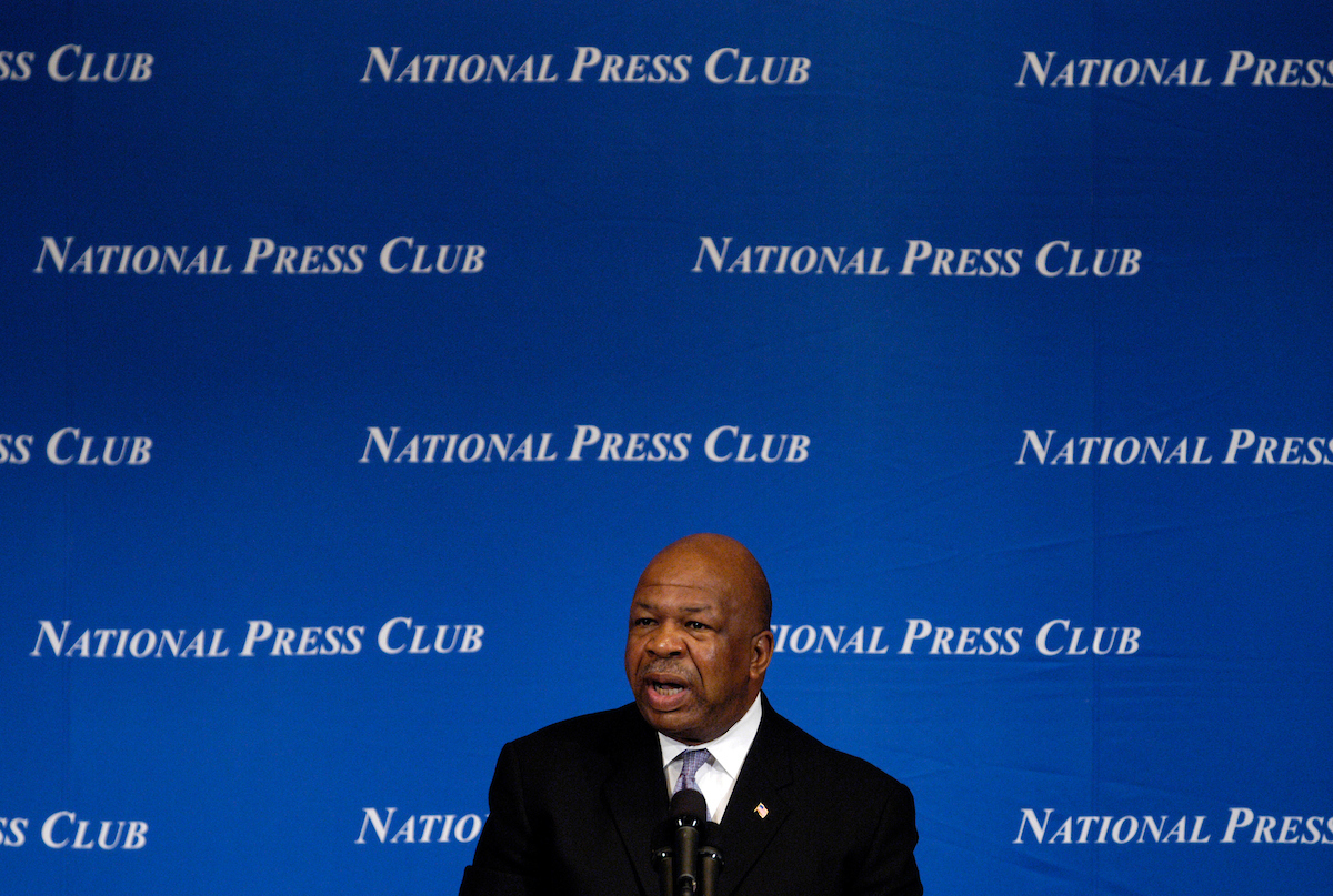 Rep. Elijah Cummings spoke today at the National Press Club about the Congressional Black Caucus and the upcoming Presidential election.