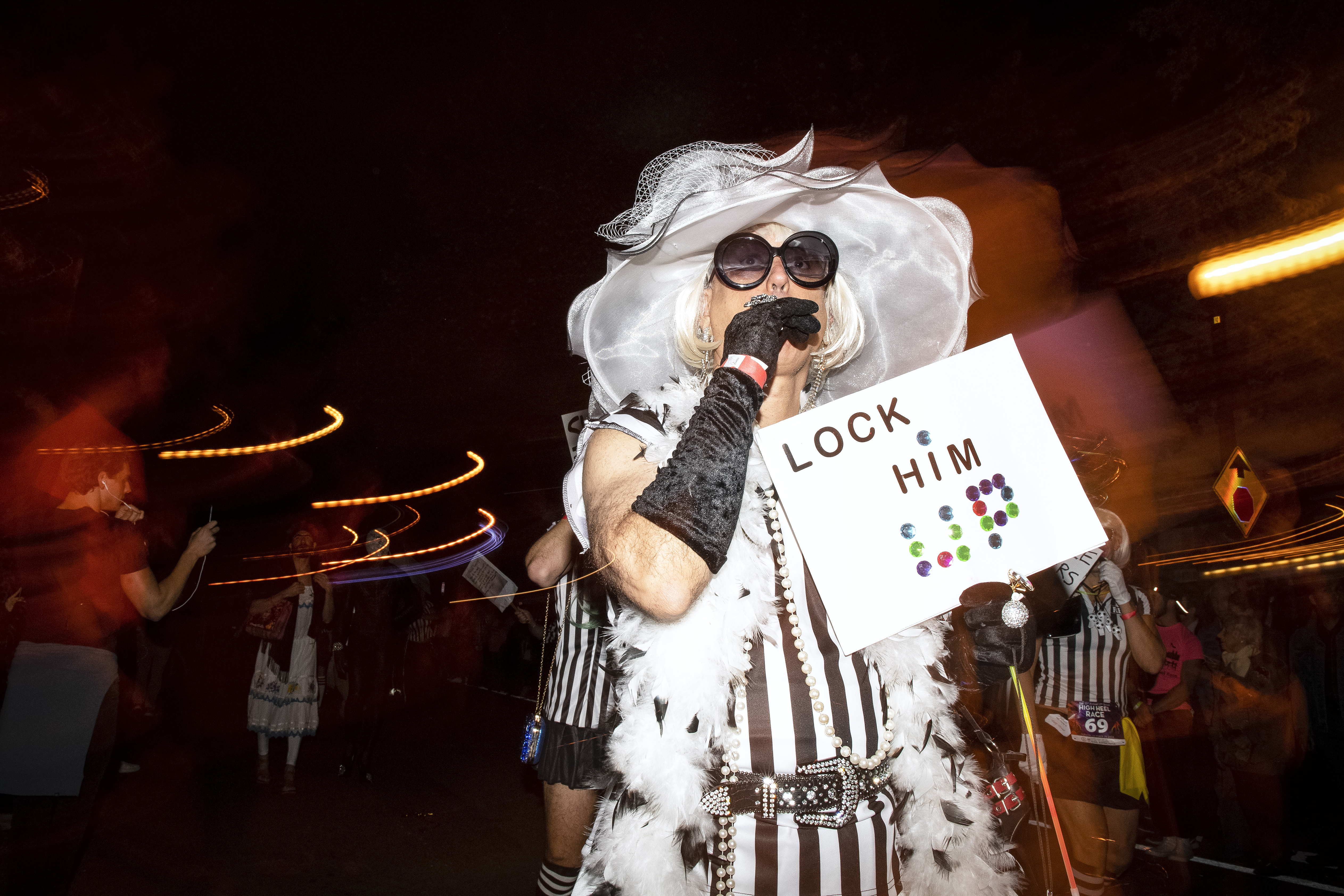 UNITED STATES - OCTOBER 29: A man dressed as a whistleblower participates in the costume parade before the start of the 33rd Annual 17th Street High Heel Race on Tuesday Oct. 29, 2019. (Photo by Caroline Brehman/CQ Roll Call)