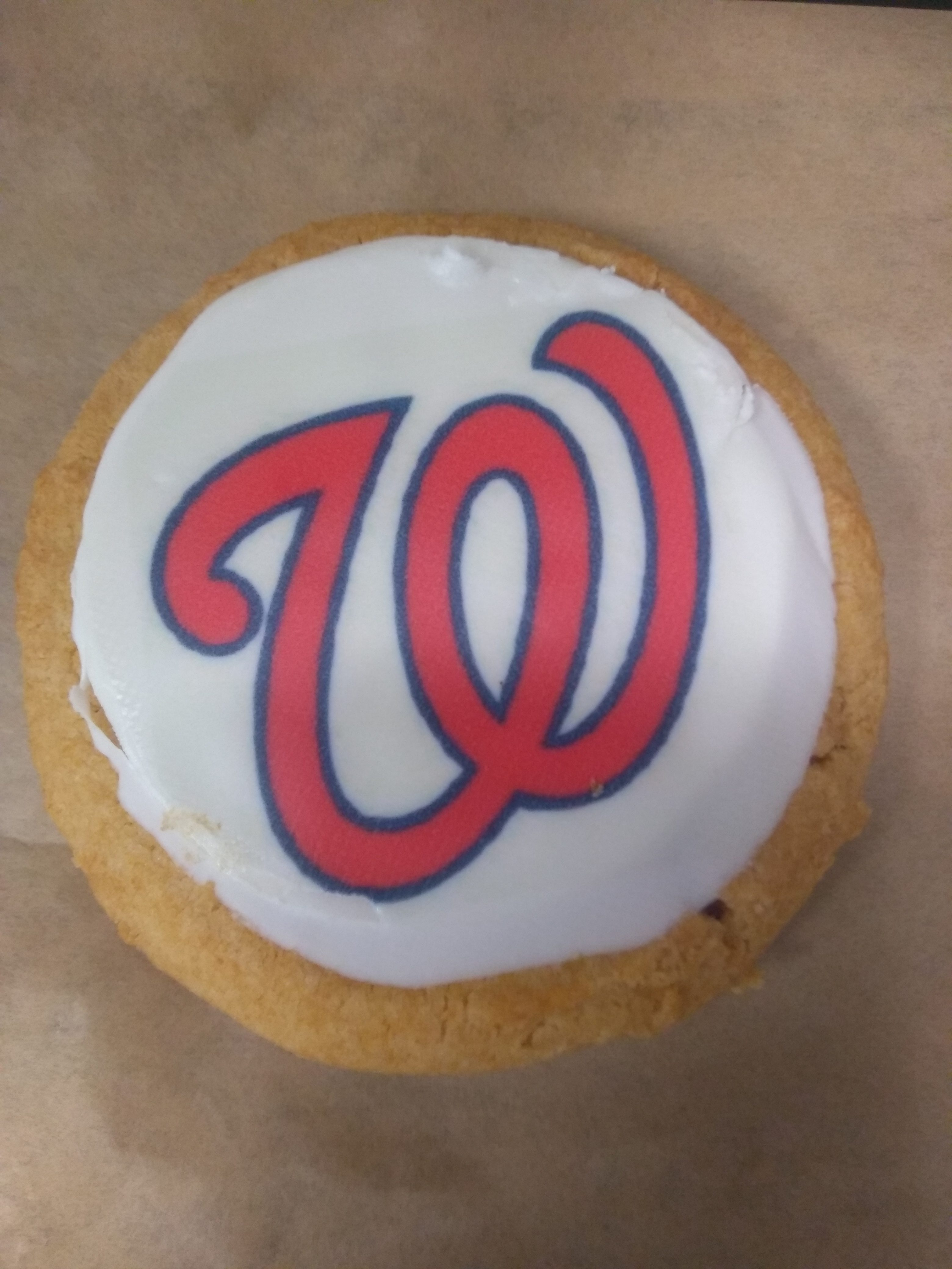 The Dirksen cafeteria has been featuring cookies with the Nationals logo. (Niels Lesniewski/CQ Roll Call)