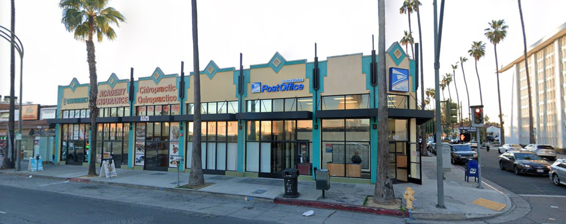 The U.S. Post Office in Van Nuys, California according to Google maps.
