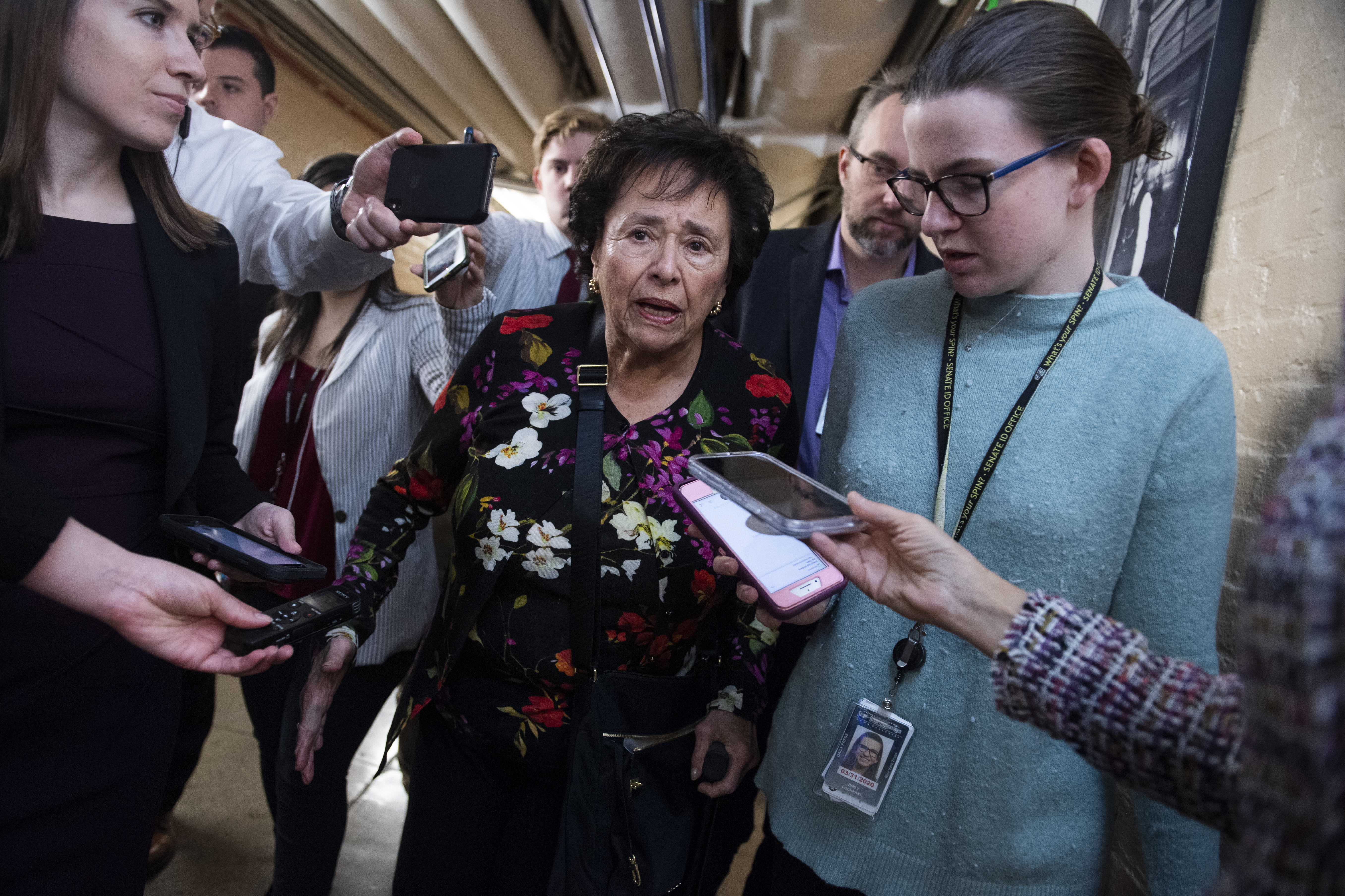 UNITED STATES - DECEMBER 4: Rep. Nita Lowey, D-N.Y., leaves a meeting of the House Democratic Caucus in the Capitol on Wednesday, December 4, 2019. (Photo By Tom Williams/CQ Roll Call)