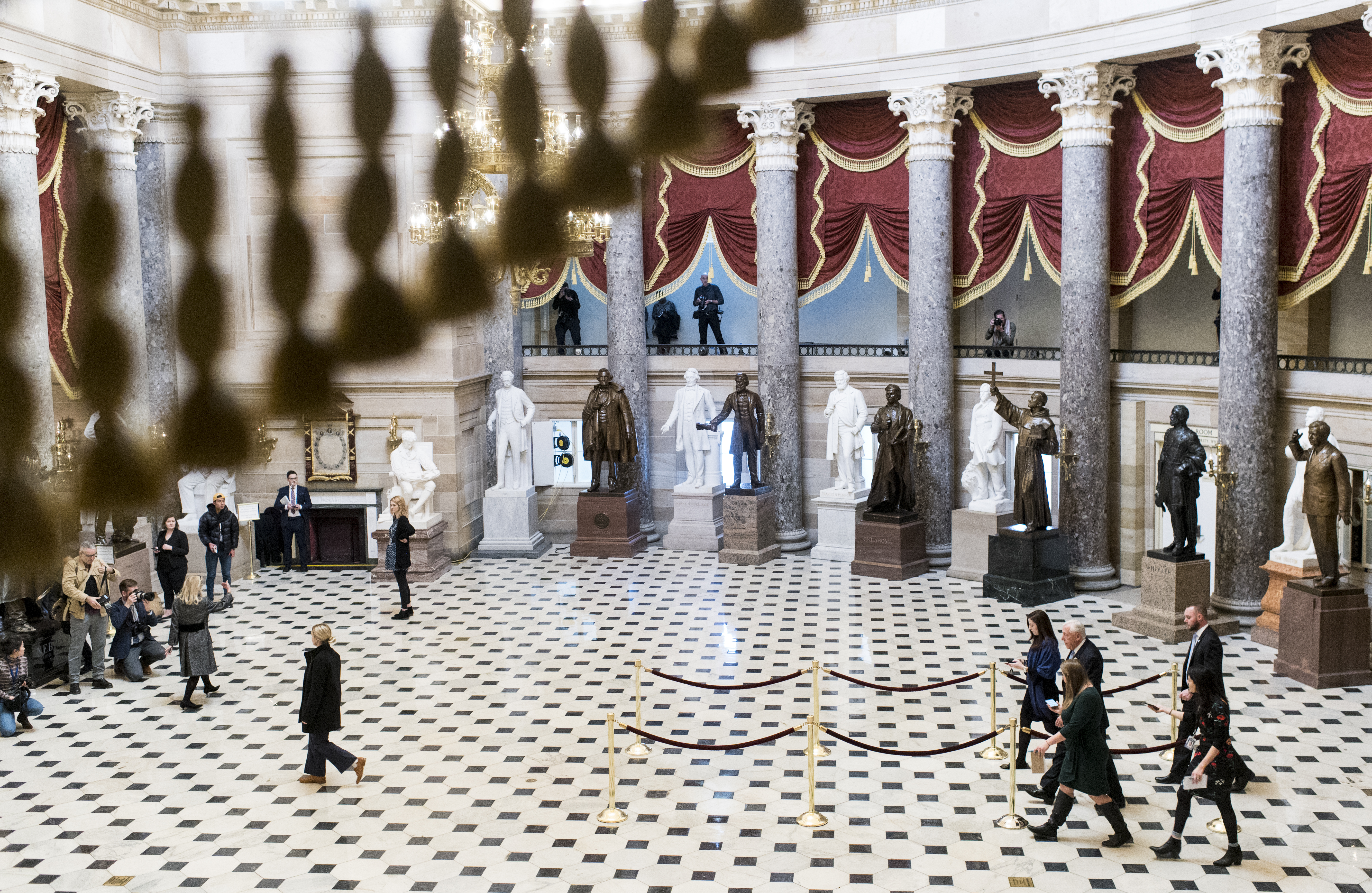 UNITED STATES - DECEMBER 18: House Majority Leader Steny Hoyer, D-Md., walks through Statuary Hall on his way to the House floor as House of Representatives takes up articles of impeachment against President Donald Trump in the Capitol on Wednesday, Dec. 18, 2019. (Photo By Bill Clark/CQ Roll Call)