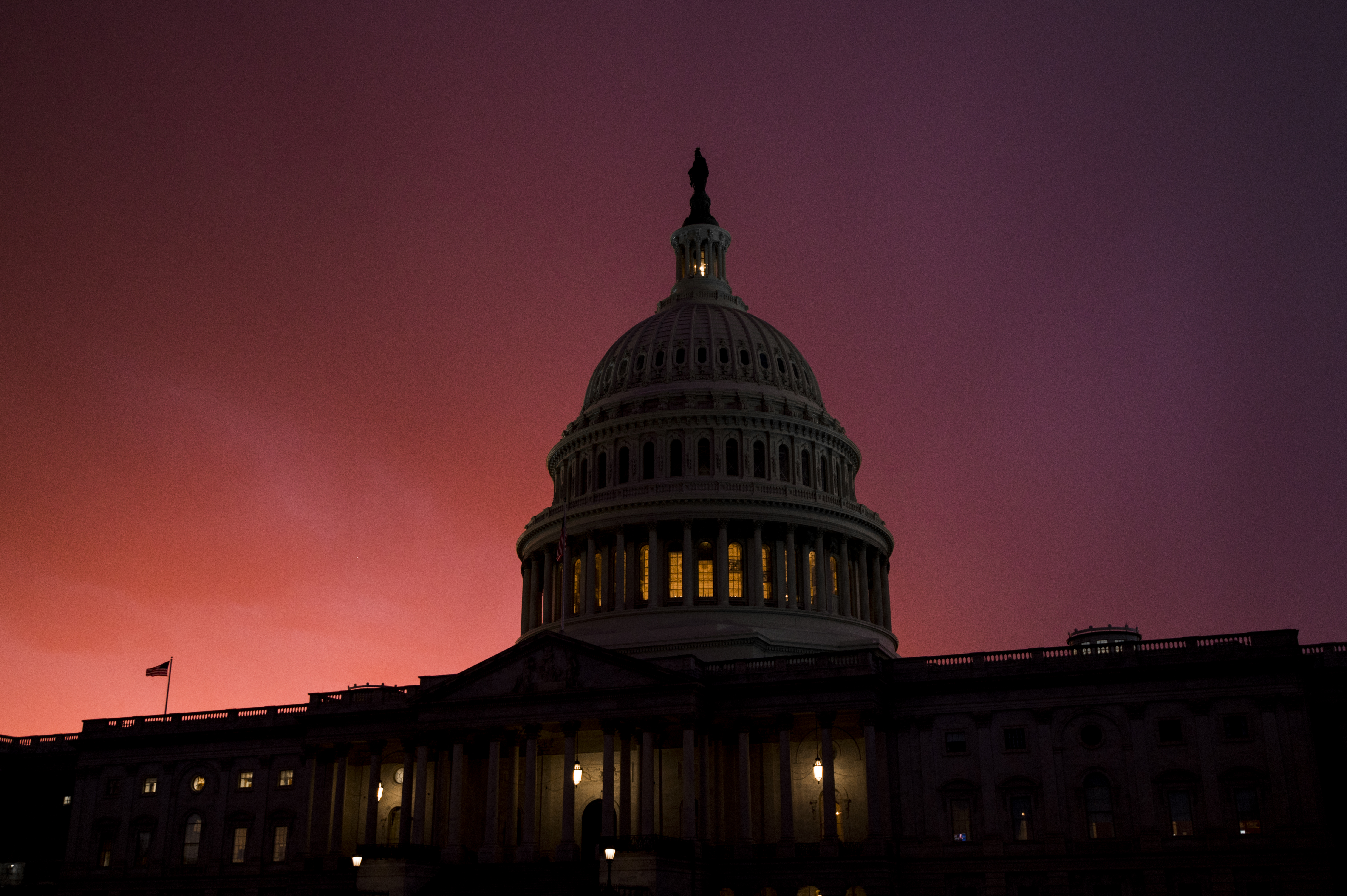 UNITED STATES - DECEMBER 4: The U.S. Capitol dome at sunset on Wednesday, Dec. 4, 2019. (Photo By Bill Clark/CQ Roll Call)