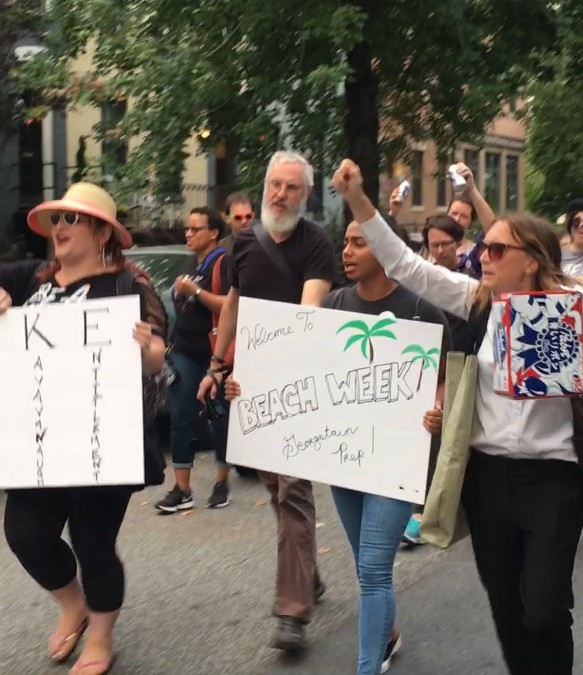 Activists Throw A Kegger Outside McConnells DC Home Friday Morning
